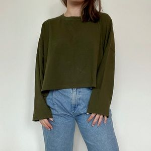 Oversized cropped top